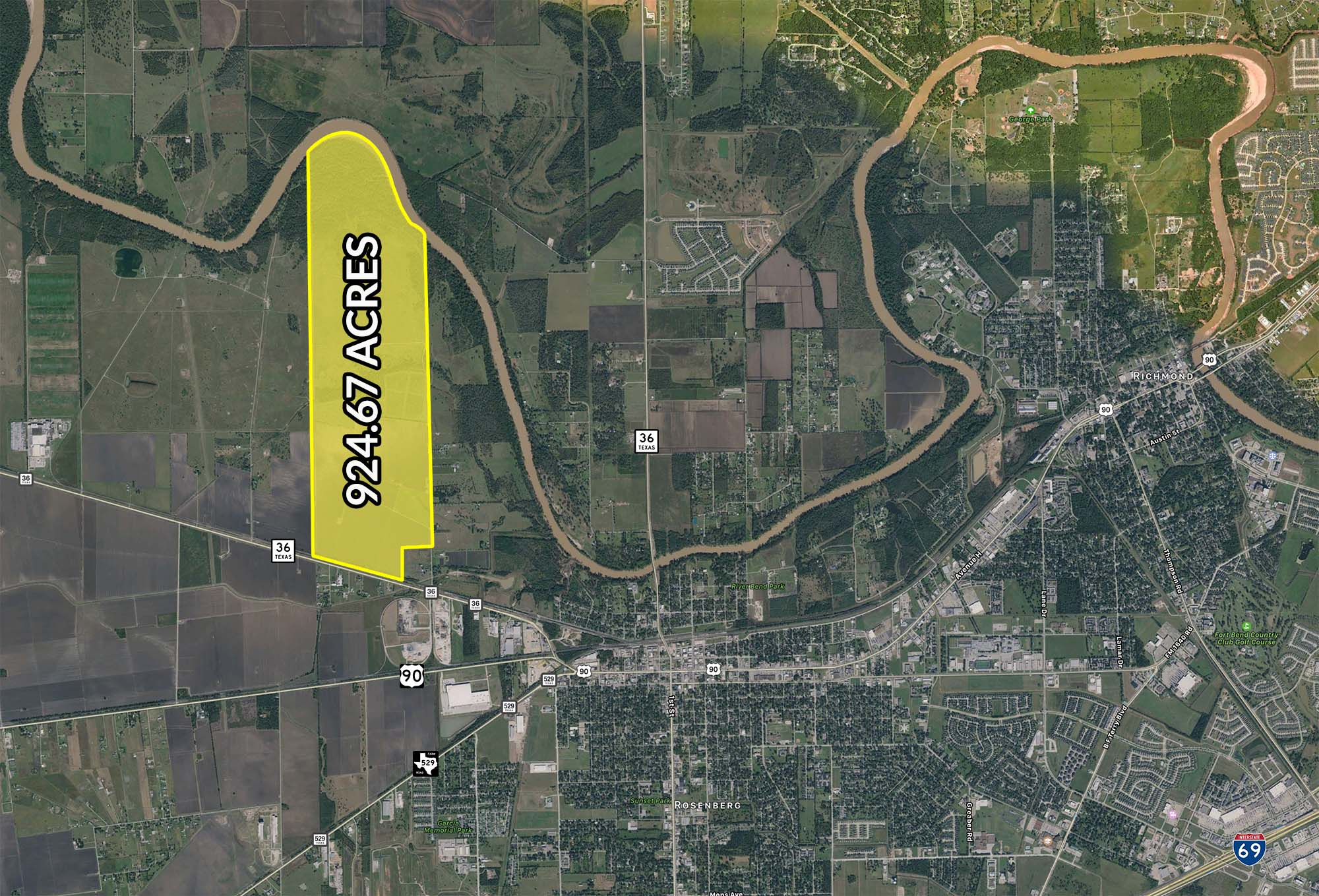 924.67 Acres for Sale in Rosenberg, TX