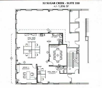 Building 52 - Suite 350: 1,896 RSF