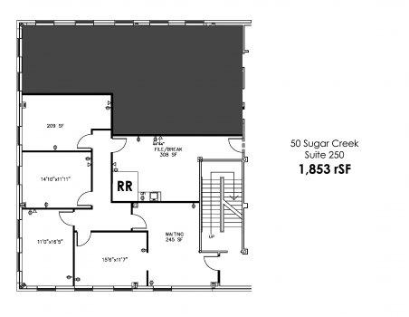 Building 50 - Suite 250: 1,853 RSF